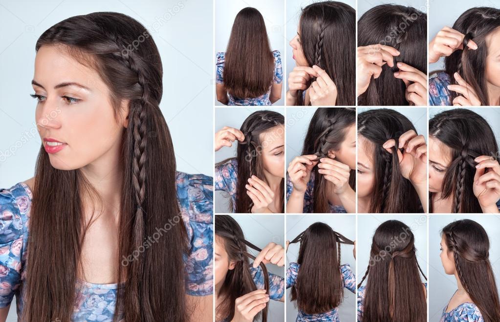 Tutorial De Peinado Trenzas Backstage Fotos De Stock C Alterphoto
