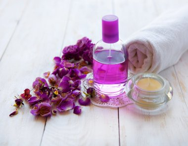 spa setting , pink rose , health and beauty care
