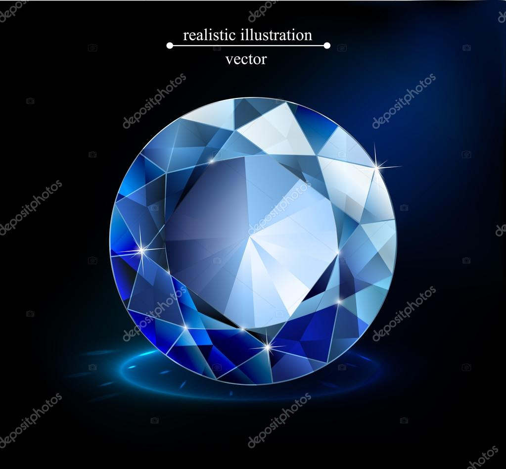 gem on a blue background