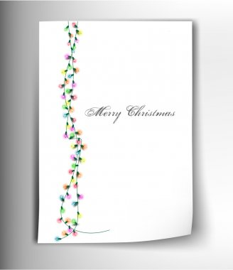 Congratulatory letter with bright decorations.