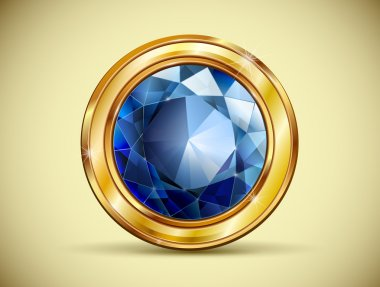 Exclusive buttons for sites with a diamond and gold frame. Wedding decorations. Vector.
