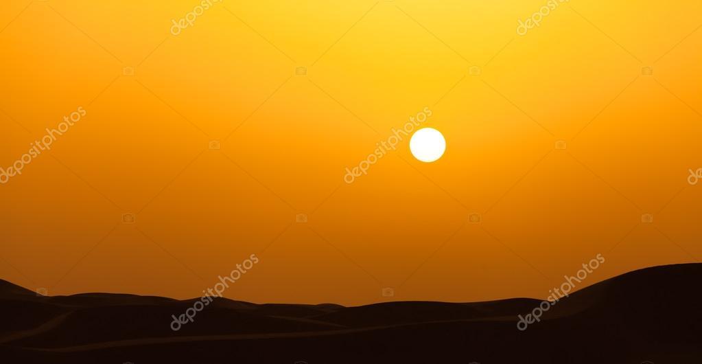 Sunset in the Dubai de