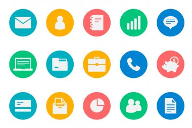 Business icons color