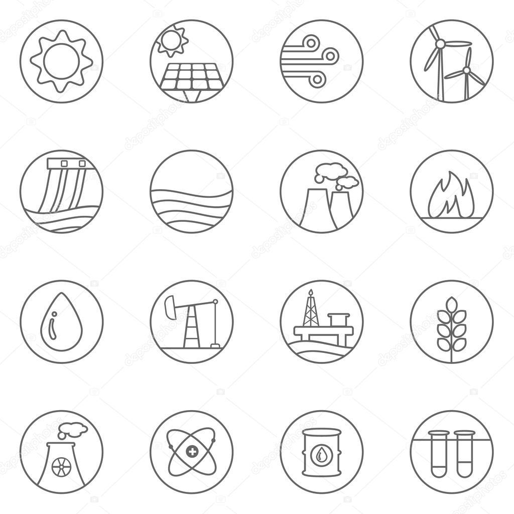Heizung und Energie Generator-Symbole — Stockvektor © wasiliyg #86664796
