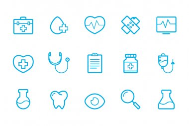medical icons line