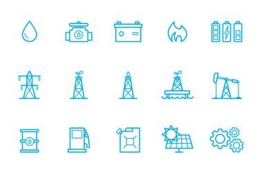 Fuel icons line