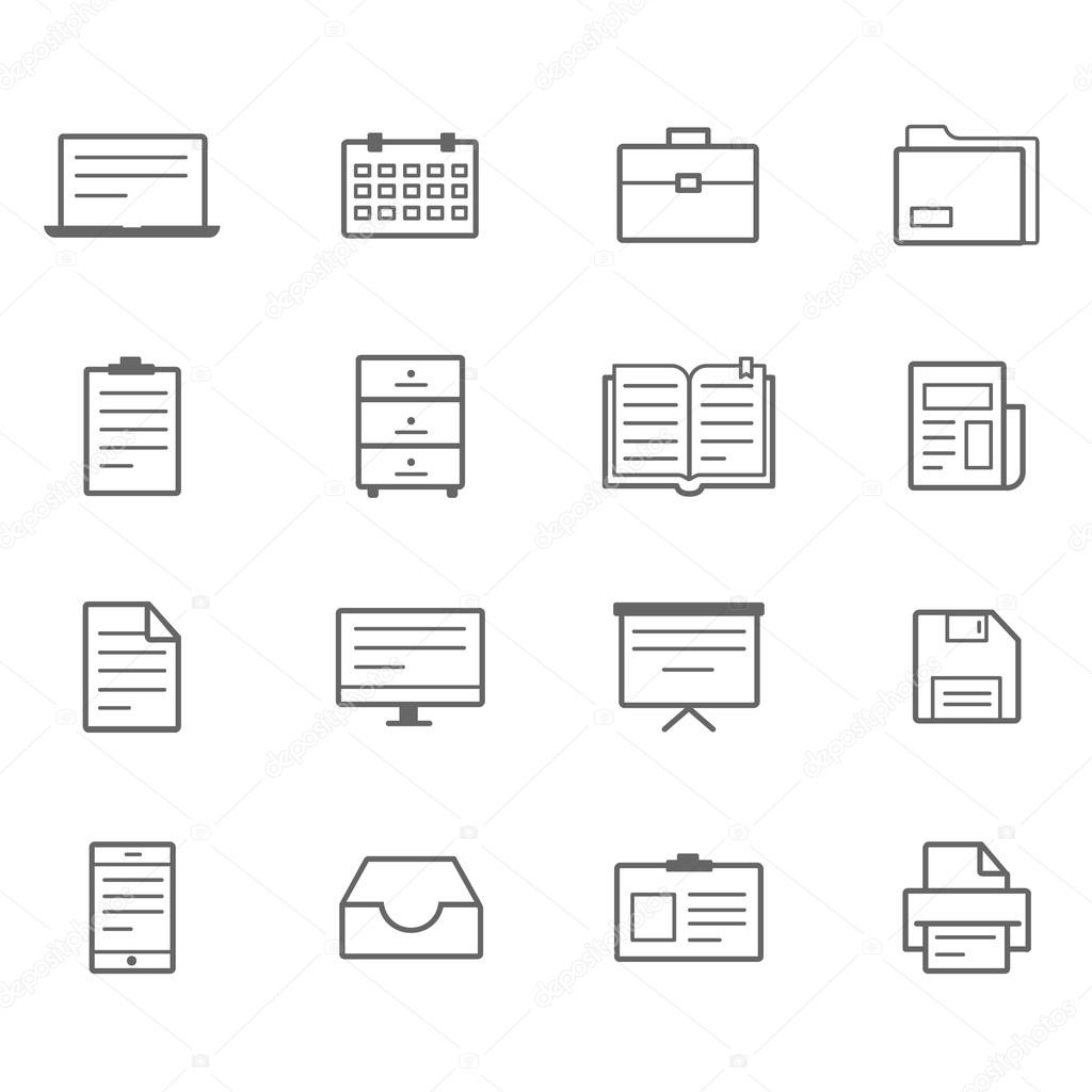 office icons Line