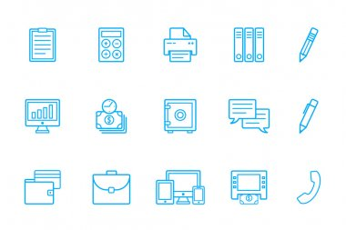 Bank icons, business icons