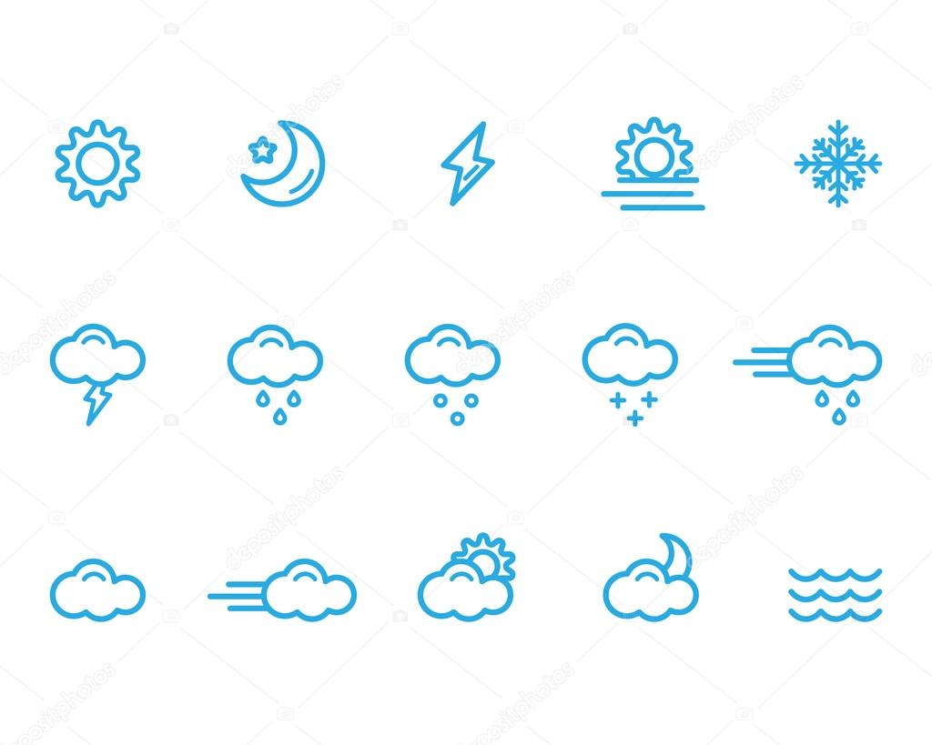 Meteo icons, weather icons