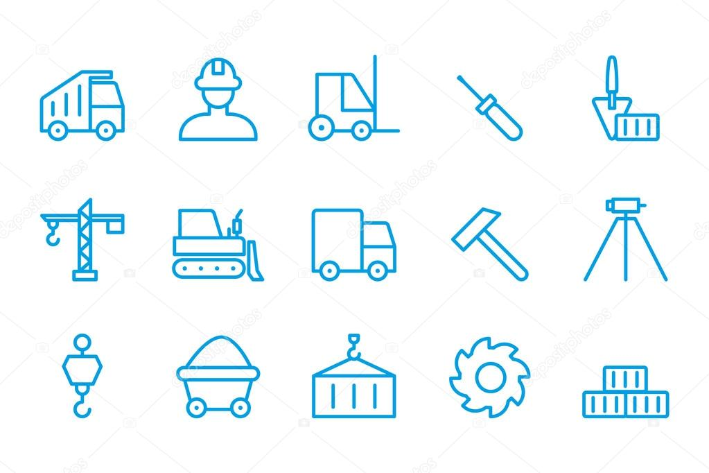Building icons Construction icons