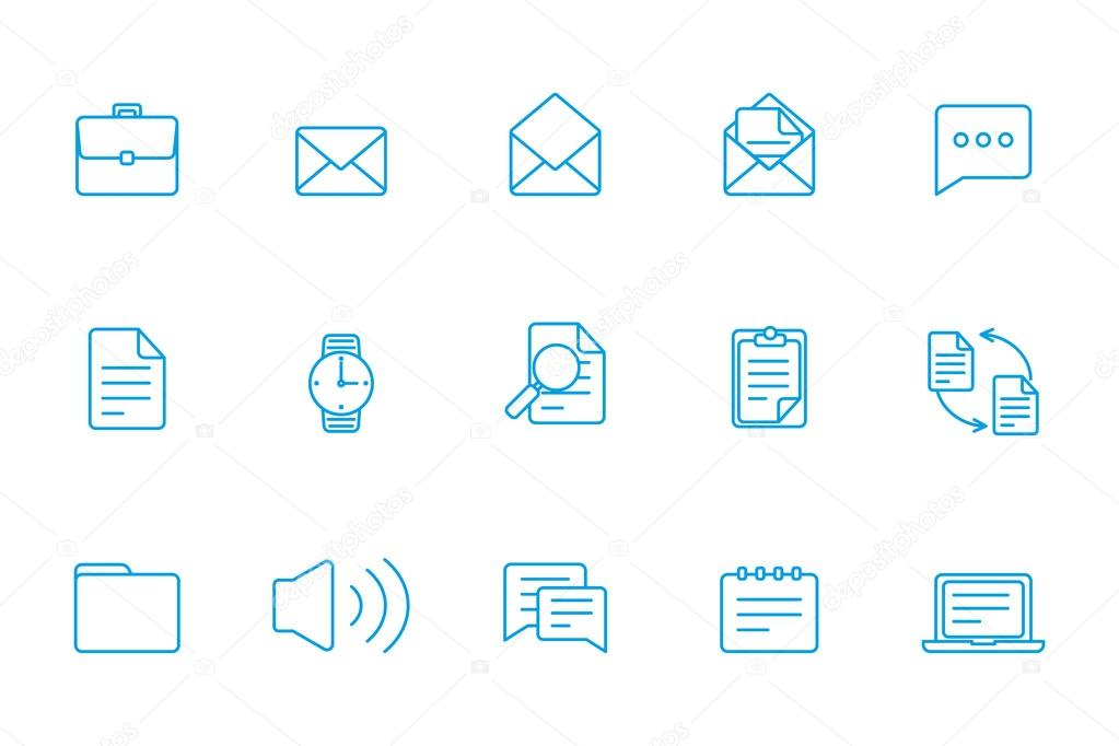 Office icons  Business icons