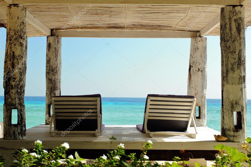 two hammocks beachfront