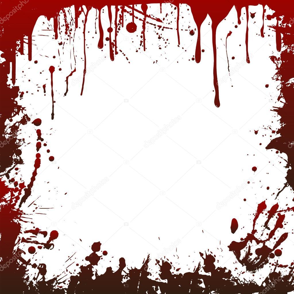 marco de sangre halloween � archivo im225genes vectoriales
