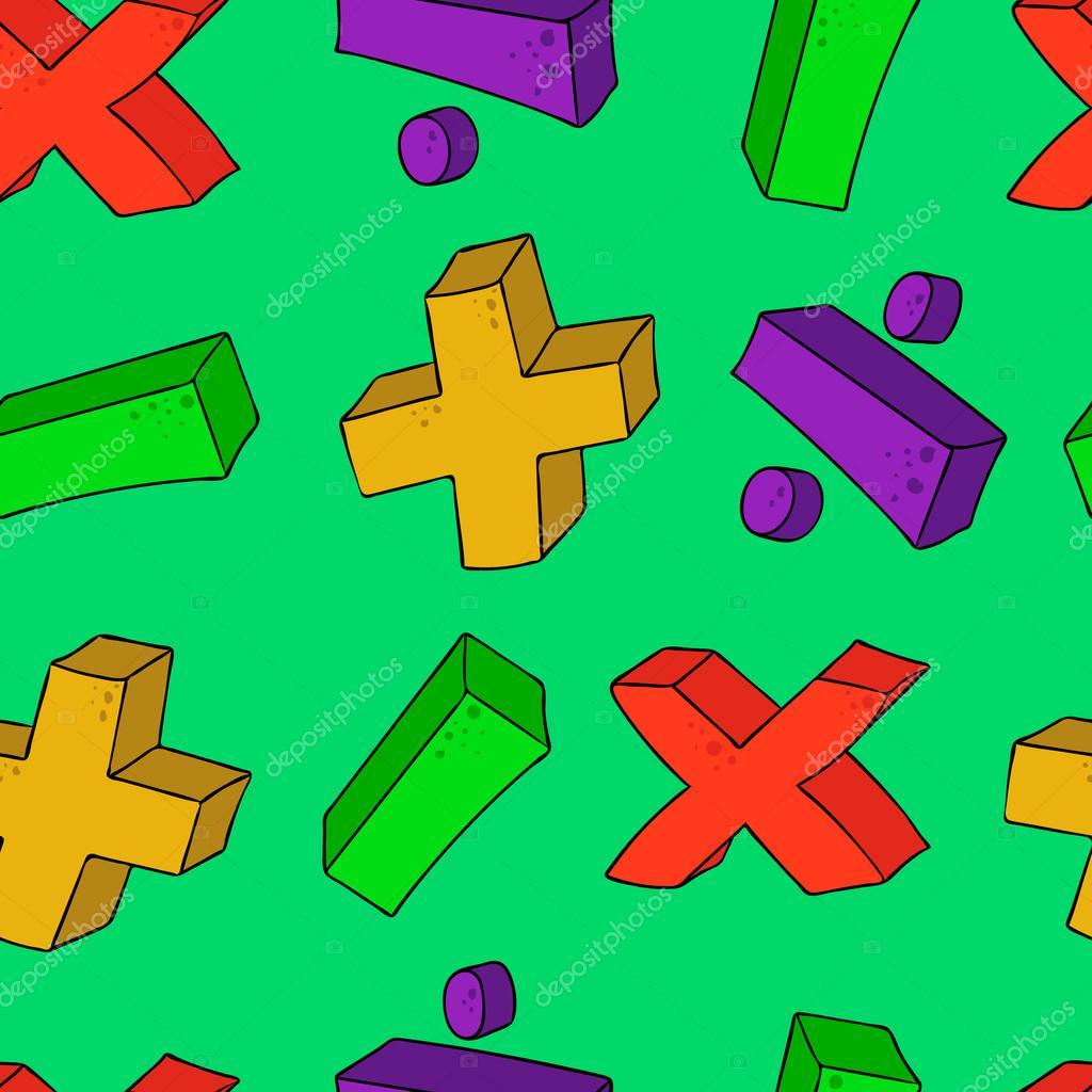 Simbolos De Matematicas De Dibujos Animados Transparente Psttern