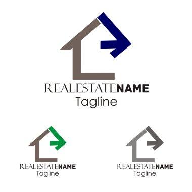 Real estate building property logo company
