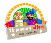 Glücklicher Tag der Republik Indien