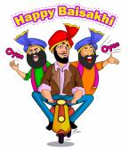 Vektor-Illustration von Happy Baisakhi
