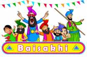Fotografie Vektor-Illustration von Happy Baisakhi