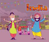 Fotografie Glücklich Punjabi India