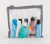 Fotografie Travel Toiletries in Clear Plastic Bag