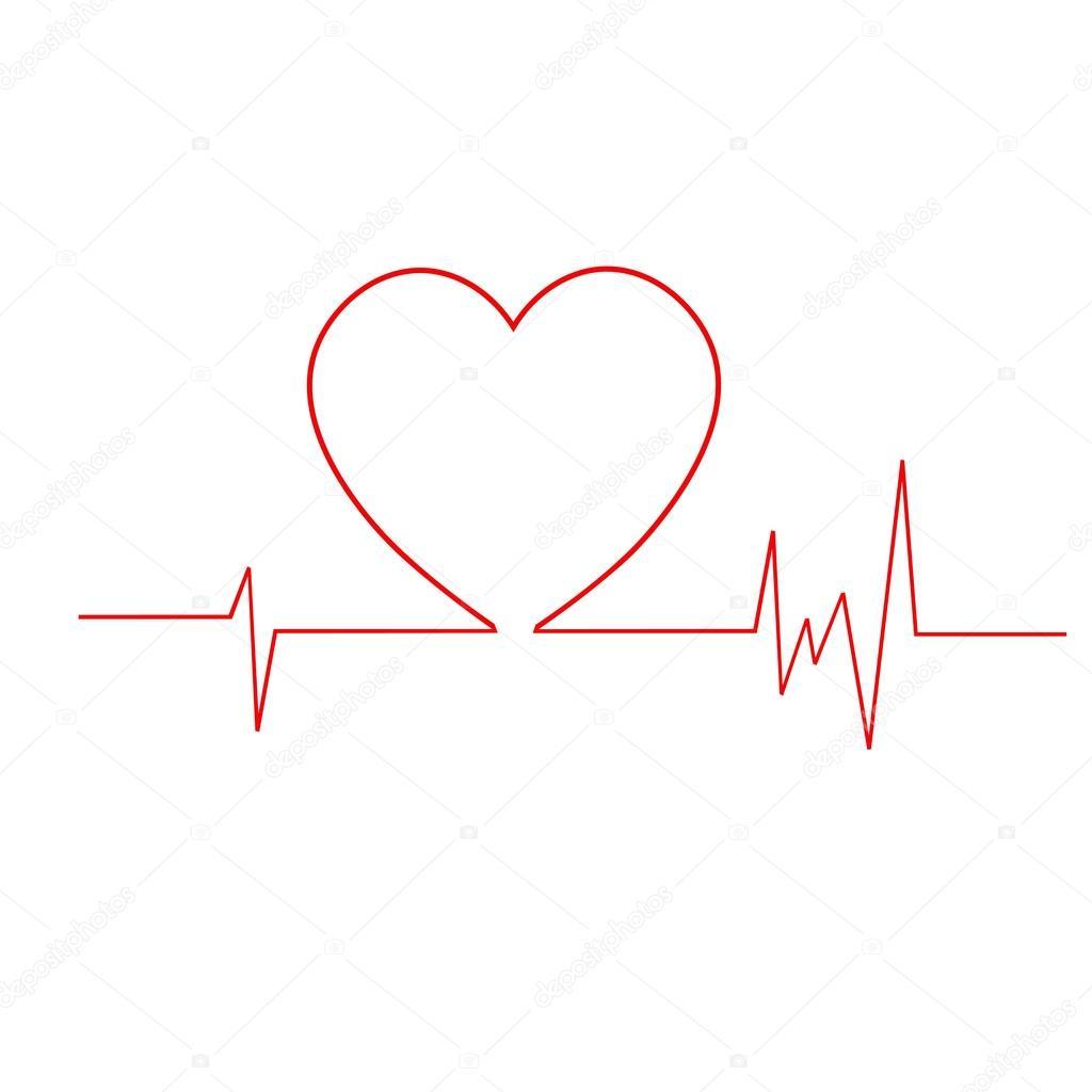 Cardiogramme c ur ligne de vie symbole coeur image vectorielle miztanya 113034698 - Symbole de la vie ...