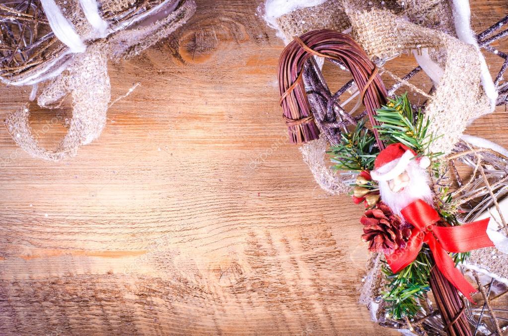 Weihnachten rustikale Lichtkästen auf Holzuntergrund mit Weihnachten ...