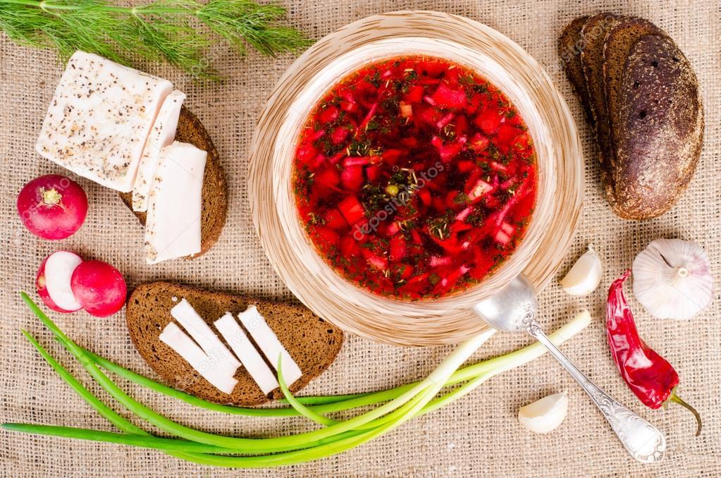 Украинский борщ  основное домашнее первое блюдо