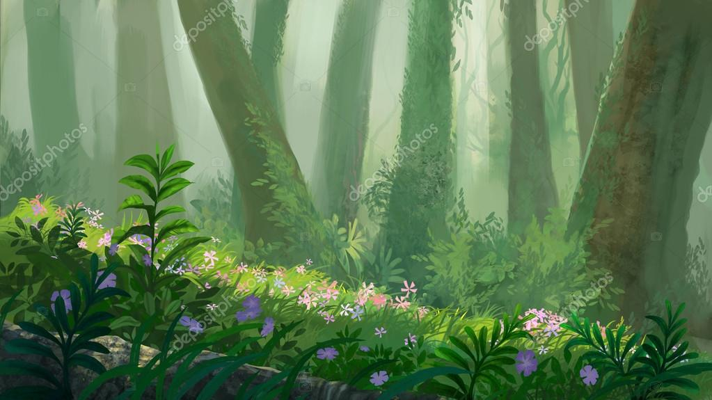 in the forest illustration
