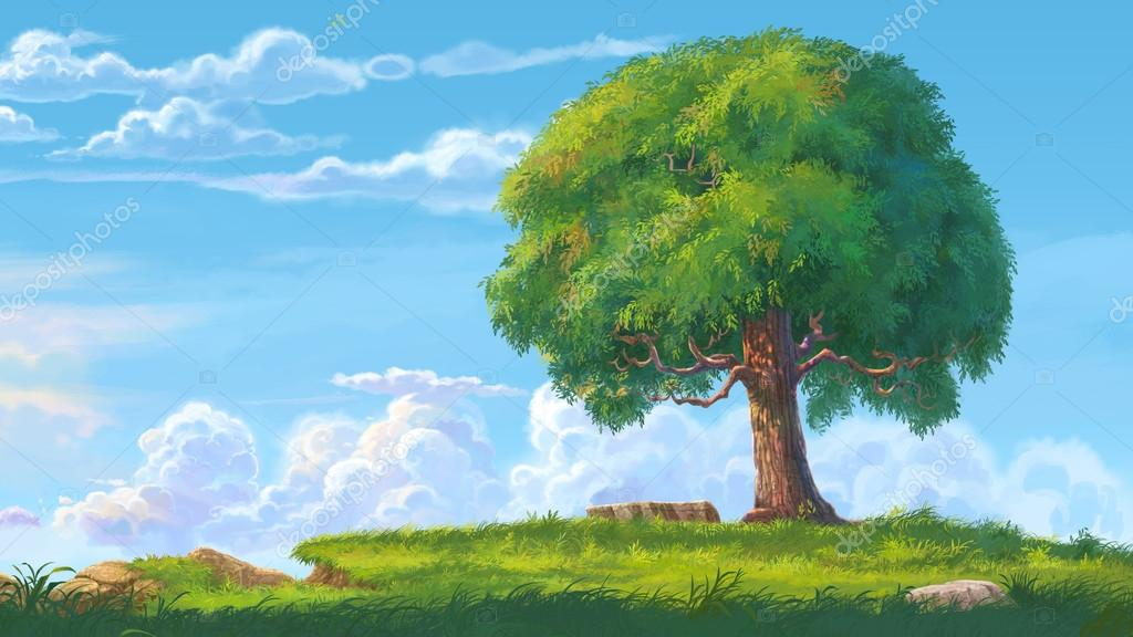 big tree illustration