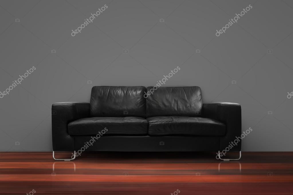Fehlende Sofa Mit Holzboden Betonwand In Leeren Wohnzimmer Interieur  Loft Stil U2014 Foto Von NoreeFly