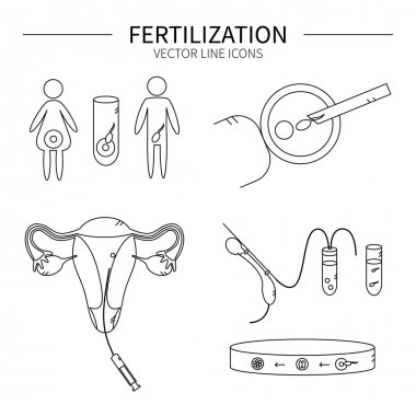 Fertilization line icons