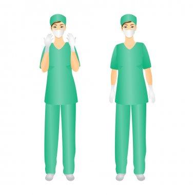 Medical Staff, Surgeon woman.
