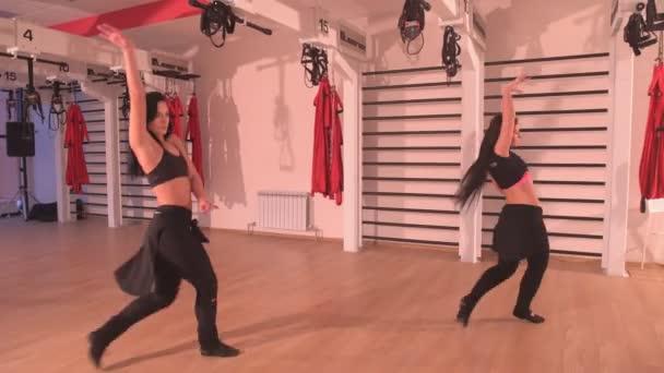 two girls dancing sexy dance
