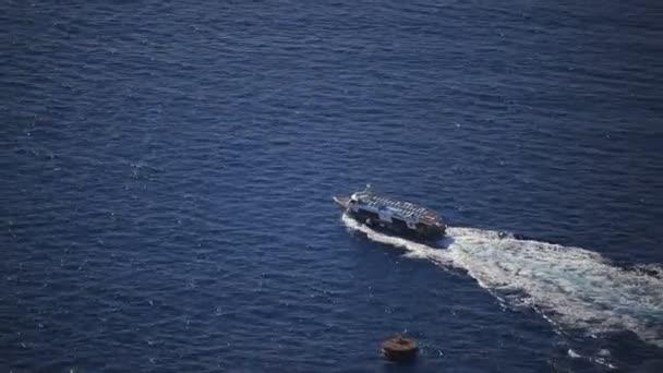 a small boat in the Aegean sea, nature in Greece