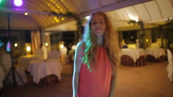 girl dancing at a wedding