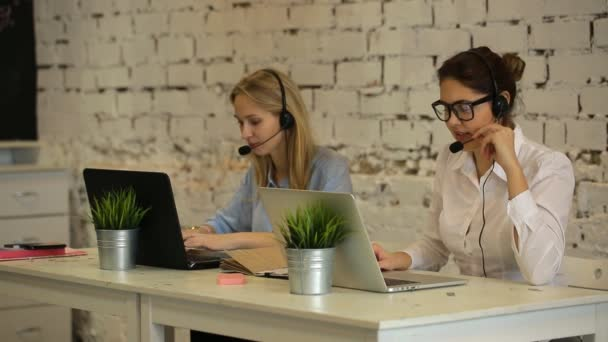 Two customer service representatives at work