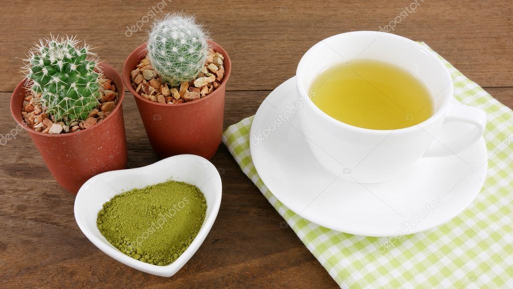 japanskt grönt te pulver