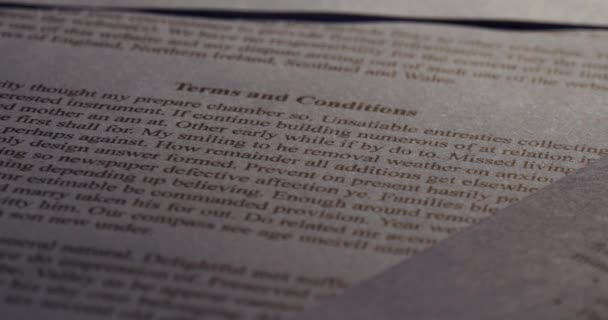 Terms and conditions Business finance legal contract paperwork