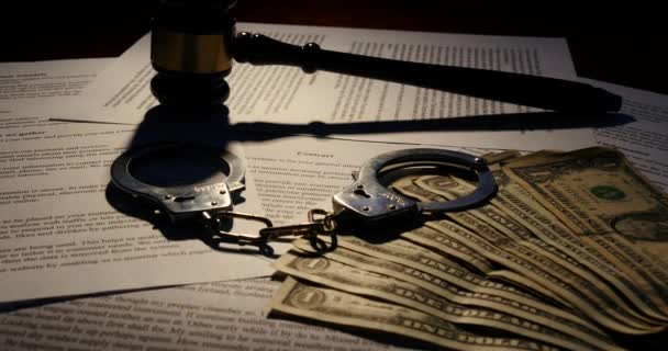 Juridical paperwork contract for judgement legal system with a lawyer