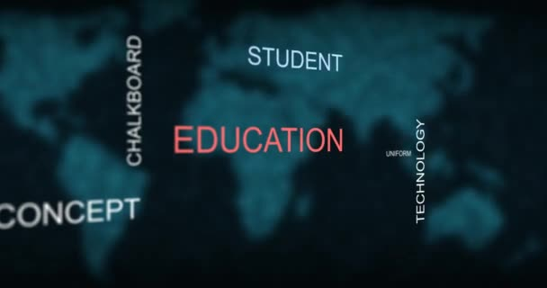 Word cloud education learning student graphic typography animation