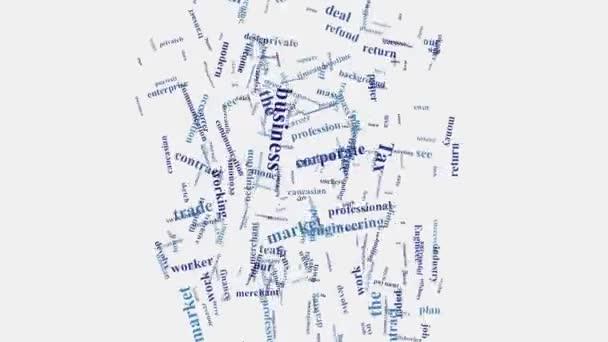 Typografické animace pro hlavní slovo podnikového shluku
