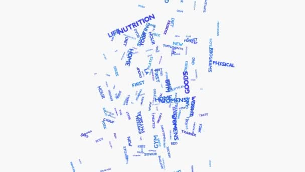Diet health lifestyle and weight word cloud typography animation