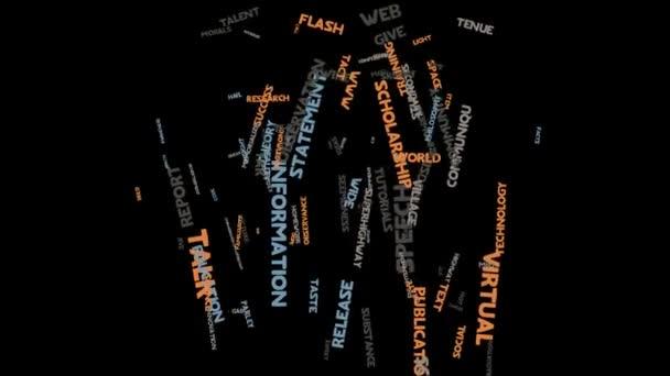Information Sprache Kommunikation Marketing Wort Wolke Typografie Animation