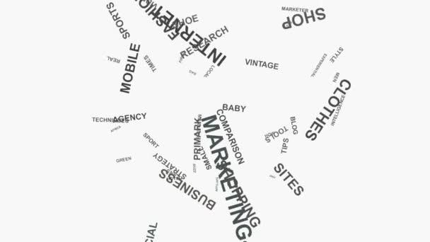Žárovky značky marketingové strategie online podnikání slovo mrak text typografie