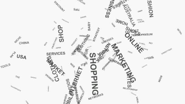 Pozor na mobilní obchod a online média marketing slovo mrak text typografie