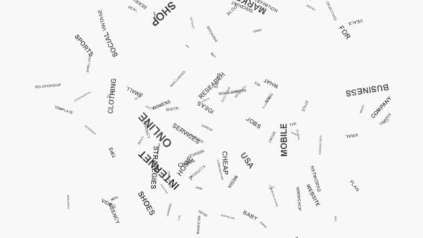 Veselý obličej Online podnikání Marketing a obchodní slovo mrak text typografie