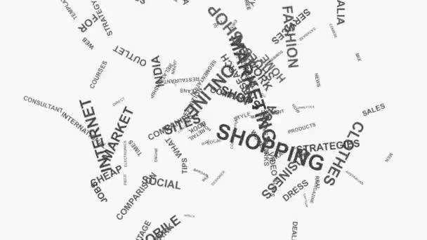 Láska srdce nakupování online marketingové koncepce slovo mrak text typografie