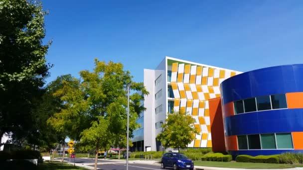 Establishing shot modern architecture building