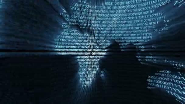 world map digital binary computer data code