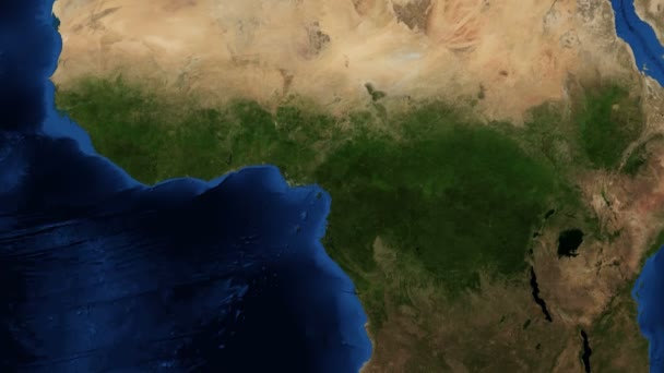 4K West Africa from space - slow tilt